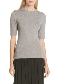 3.1 Phillip Lim Metallic Short Sleeve Sweater