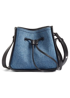 3.1 Phillip Lim Mini Soleil Denim & Leather Bucket Bag