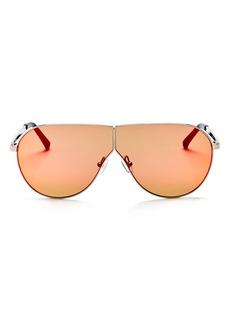 3.1 Phillip Lim Women's Mirrored Shield Aviator Sunglasses, 70mm