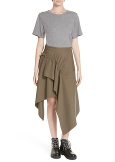 3.1 Phillip Lim Mixed Media Wool & Cotton T-Shirt Dress