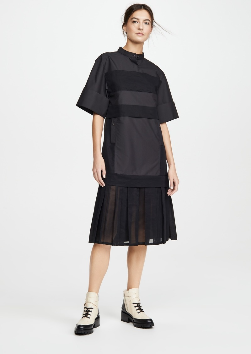 3.1 Phillip Lim Multimedia Dress with Pleated Hem