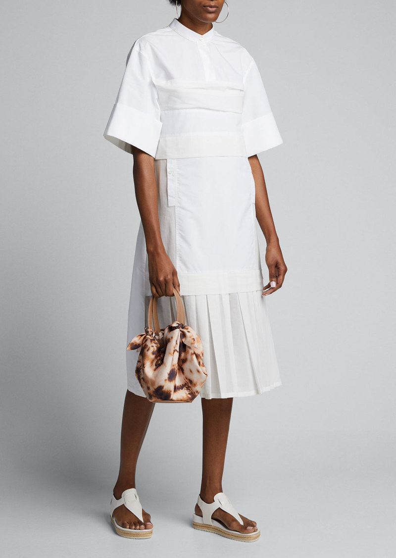 3.1 Phillip Lim Multimedia Pleated Shirtdress