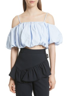 3.1 Phillip Lim Off the Shoulder Crop Top