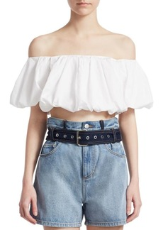 3.1 Phillip Lim Off-The-Shoulder Crop Top
