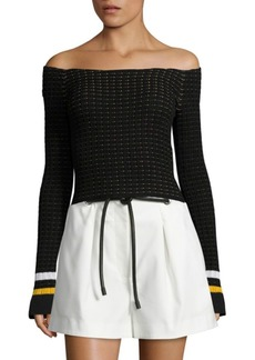 3.1 Phillip Lim Off-The-Shoulder Top