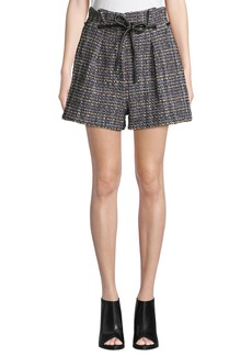 3.1 Phillip Lim Origami Pleated Textured Tweed Shorts