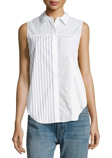 3.1 Phillip Lim Patchwork Button Pocket Blouse