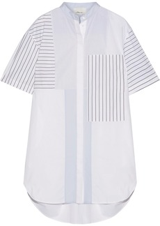 3.1 Phillip Lim Patchwork striped cotton-poplin mini shirt dress