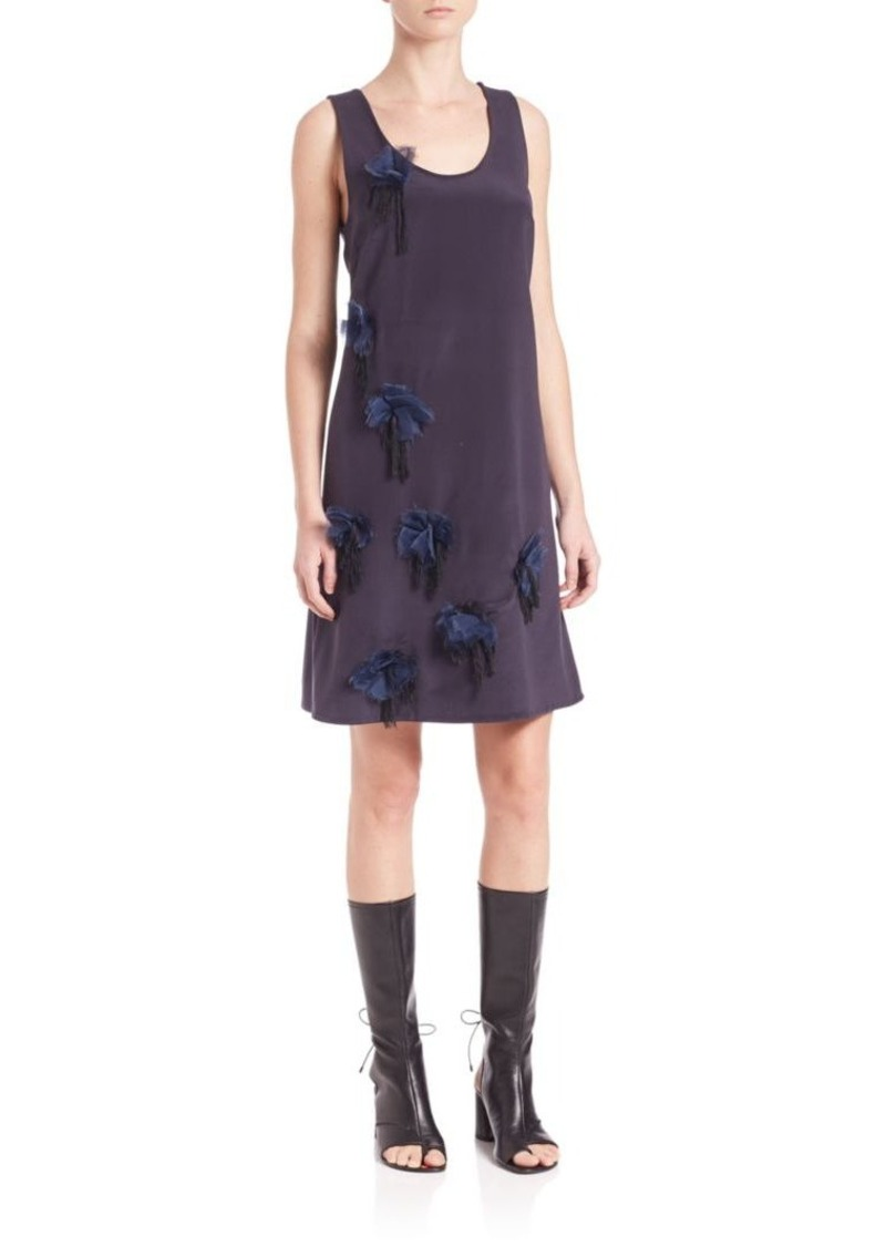 3.1 Phillip Lim Peony Trimmed Silk Dress