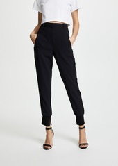 3.1 Phillip Lim Pinstripe Jogger Pants with Piping