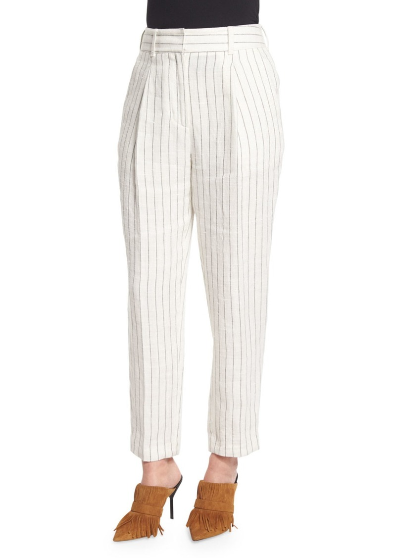 3.1 Phillip Lim Pinstripe Linen Carrot Pants  Cloud