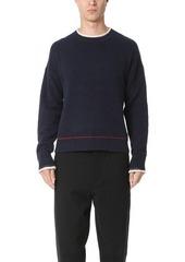 3.1 Phillip Lim Plaited Cotton Chenille Boxy Pullover Sweater
