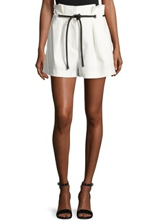 3.1 Phillip Lim Pleated Paperbag-Waist High-Rise Shorts