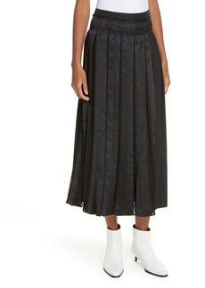 3.1 Phillip Lim Pleated Poplin Skirt