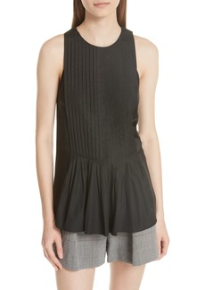 3.1 Phillip Lim Pleated Poplin Tank