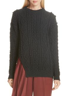 3.1 Phillip Lim Popcorn & Cable Knit Sweater