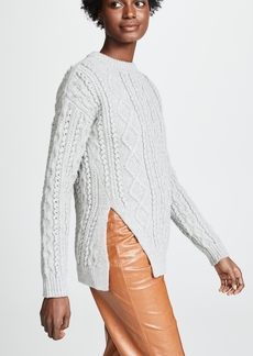 3.1 Phillip Lim Popcorn Cable Long Pullover