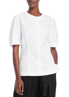 3.1 Phillip Lim Puff Sleeve Cotton Top