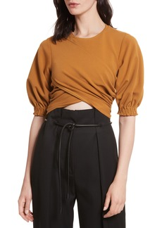 3.1 Phillip Lim Puff Sleeve Crop Tee