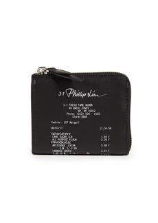 3.1 Phillip Lim Receipt Print Zip Around Wallet