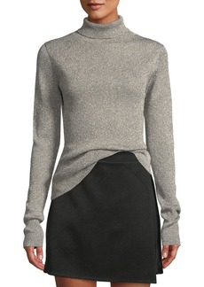 3.1 Phillip Lim Ribbed Metallic Turtleneck Pullover Sweater