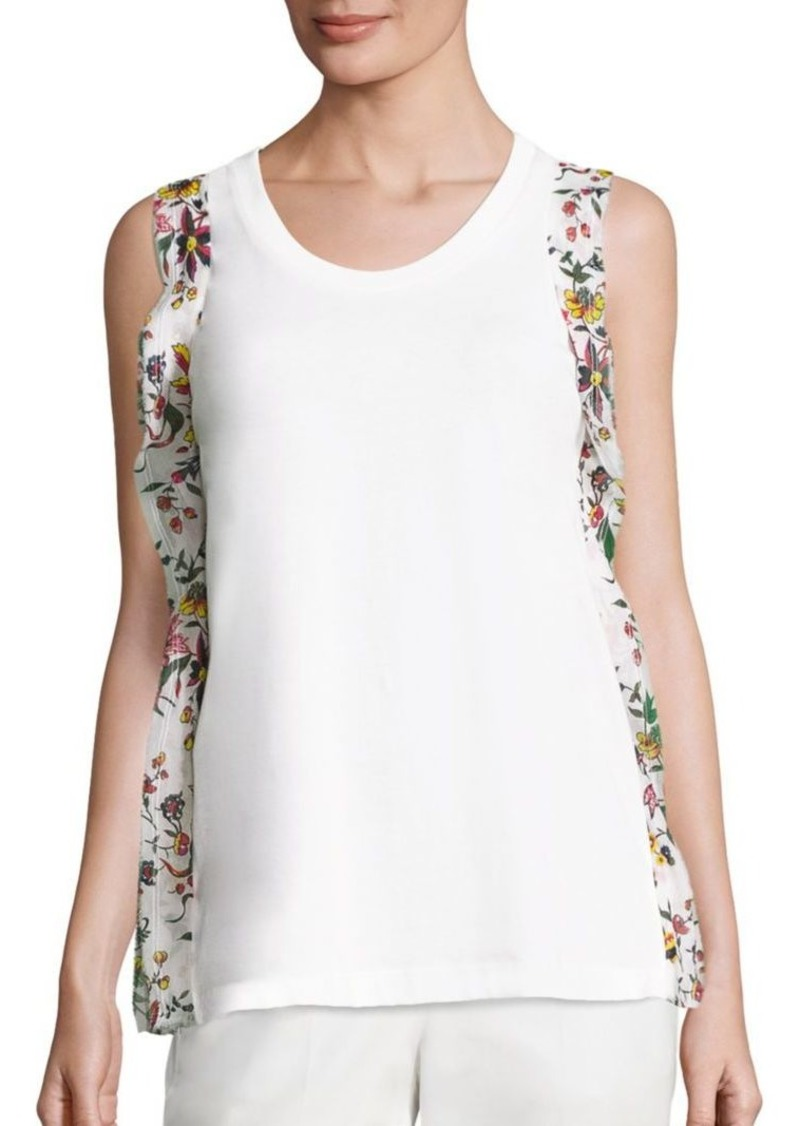 3.1 Phillip Lim Ribbon Trim Cotton Tank Top