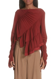 3.1 Phillip Lim Ruffle Layer Silk Blouse