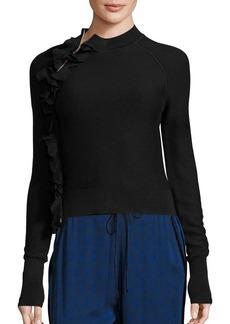 3.1 Phillip Lim Ruffle Mockneck Sweater
