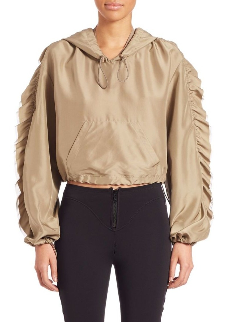 3.1 Phillip Lim Ruffle-Trimmed Cropped Silk Anorak