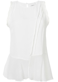 3.1 Phillip Lim sheer asymmetric hem blouse