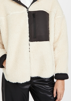3.1 Phillip Lim Sherpa Bonded Sporty Jacket with Hood