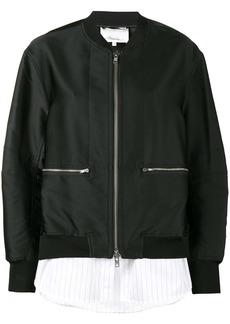 3.1 Phillip Lim shirt hem bomber jacket - Black