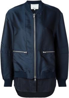 3.1 Phillip Lim shirt tail bomber jacket - Blue