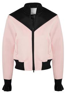 3.1 Phillip Lim Silk-trimmed satin-crepe bomber jacket