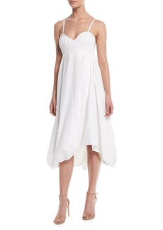 3.1 Phillip Lim Sleeveless Empire-Waist Cotton Bubble Dress