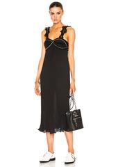 3.1 phillip lim Sleeveless Pleated Ruffle Dress