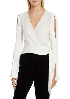3.1 Phillip Lim Slit Sleeve Silk Blouse