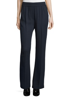 3.1 Phillip Lim Smocked Boot-Cut Stretch Pants  Navy