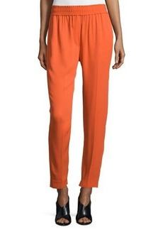 3.1 Phillip Lim Smocked Straight-Leg Cropped Pants