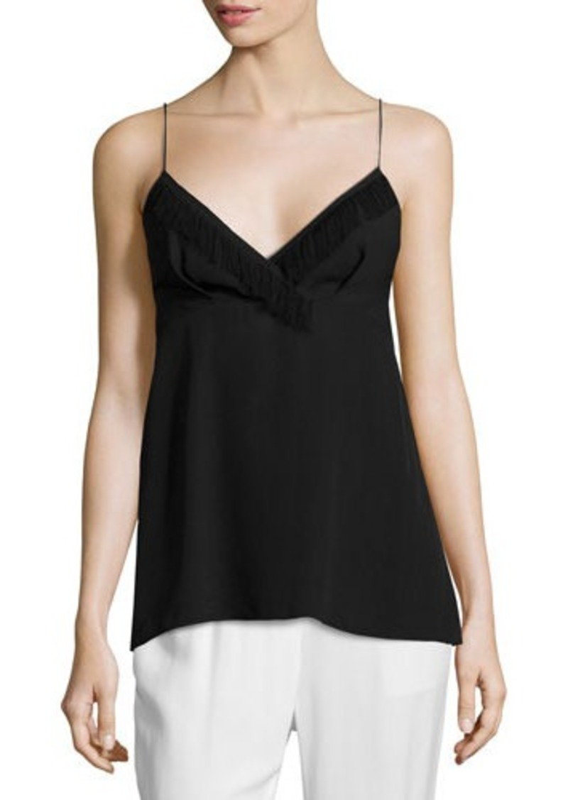 3.1 Phillip Lim Spaghetti Tank with Fringe Trim