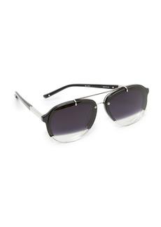 3.1 Phillip Lim Split Aviator Sunglasses