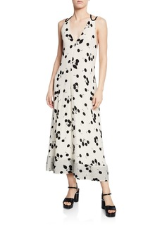 3.1 Phillip Lim Strappy Open-Back Printed Maxi Dress