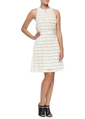 3.1 Phillip Lim Striped Accordion-Pleated Fit-And-Flare Dress