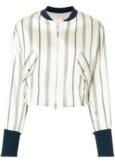 3.1 Phillip Lim striped bomber jacket - Nude & Neutrals