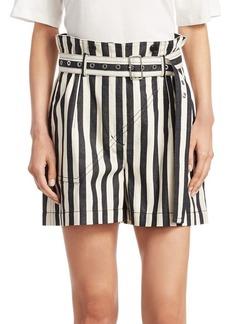 3.1 Phillip Lim Striped Cotton Shorts