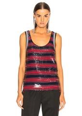 3.1 phillip lim Striped Sequin Top
