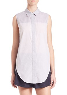 3.1 Phillip Lim Striped Sleeveless Button Down Top