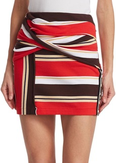 3.1 Phillip Lim Striped Wrap Miniskirt