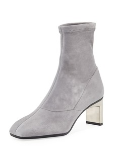 3.1 Phillip Lim Suede Metallic-Heel Boot
