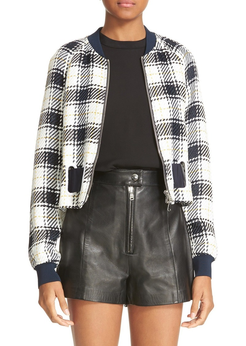 3.1 Phillip Lim Surf Plaid Bomber